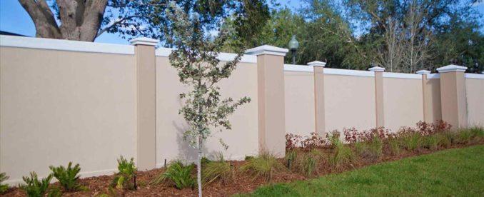 монолитный бетонный забор