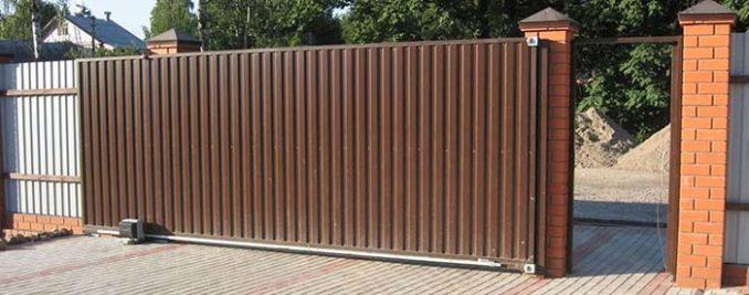 Ворота из профильной трубы