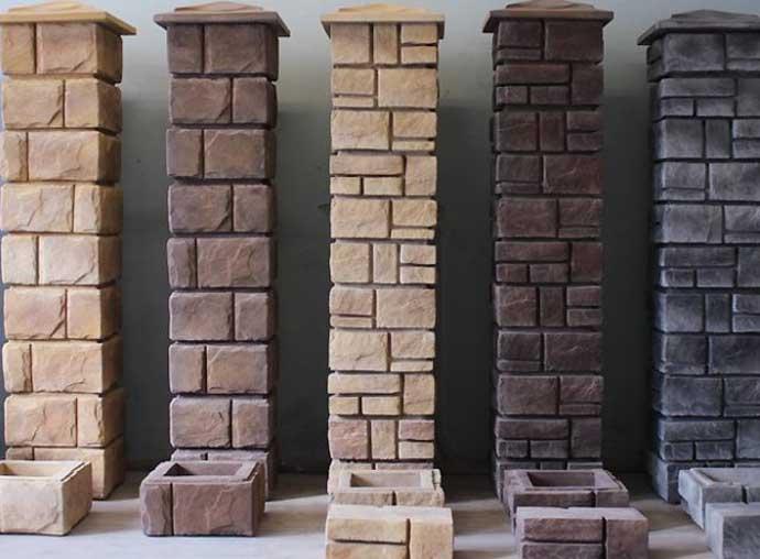 Декоративные столбы для забора