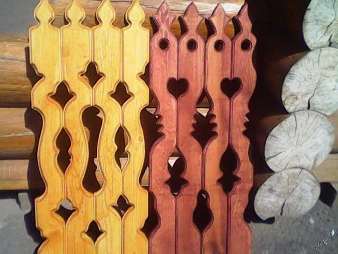 показаны ажурные заборы из дерева в картинках конструкции