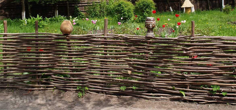 Плетеный забор из веток своими руками фото