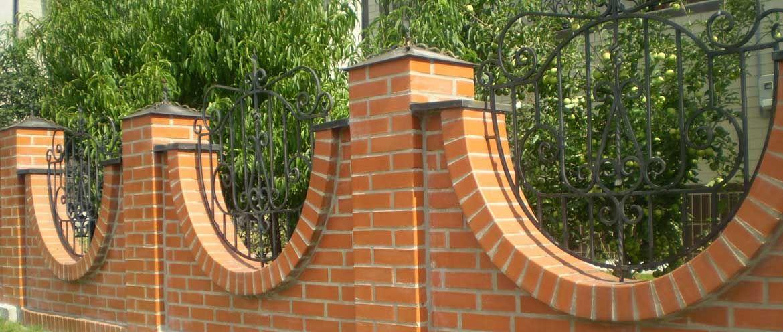 Заборные арки из кирпича фото
